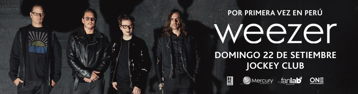 Banner Weezer en Lima - Joinnus