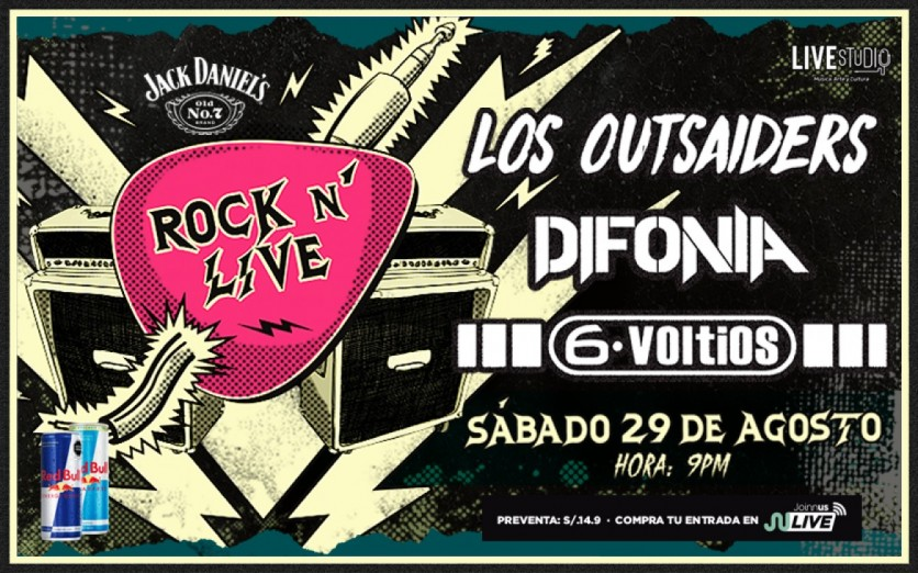 ROCK N´ LIVE | LOS OUTSAIDERS + DIFONIA + 6 VOLTIOS