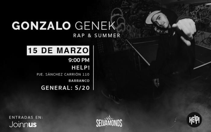 Gonzalo Genek | Rap & Summer @Barranco