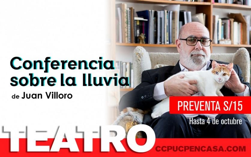 CONFERENCIA SOBRE LA LLUVIA de Juan Villoro