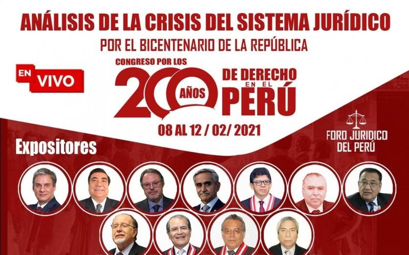CONGRESO POR LOS 200 AÑOS DE DERECHO EN EL PERÚ