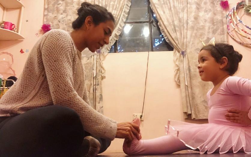 Clases de ballet para los mas pequeños de casa