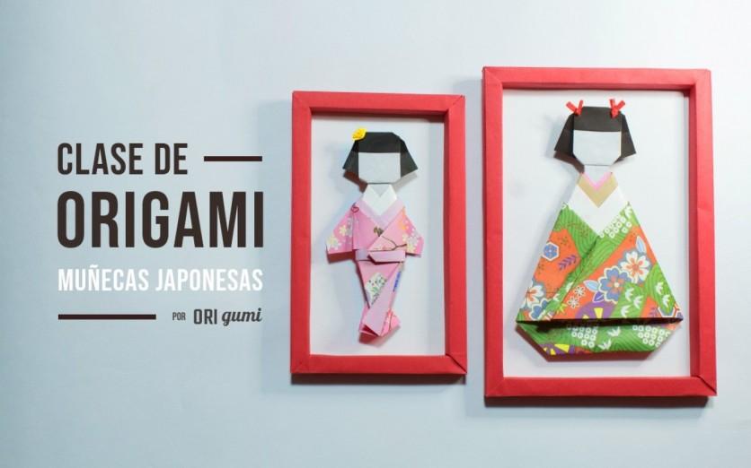 Clase de origami: muñecas japonesas