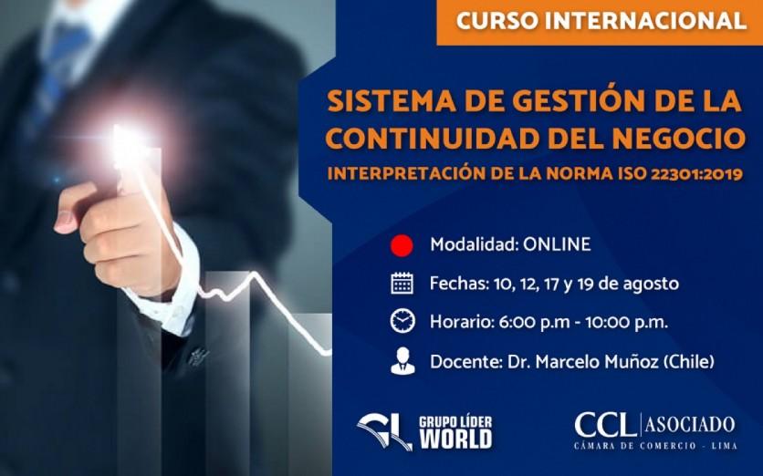 Curso Internacional: Sistema de Gestión de la Continuidad