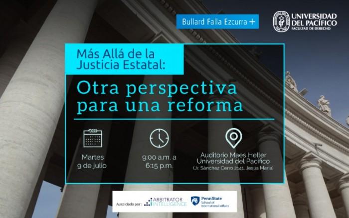 Conferencia: Más Allá de la Justicia Estatal