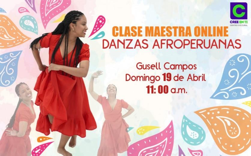 Clase Maestra Online Danzas Afroperuanas
