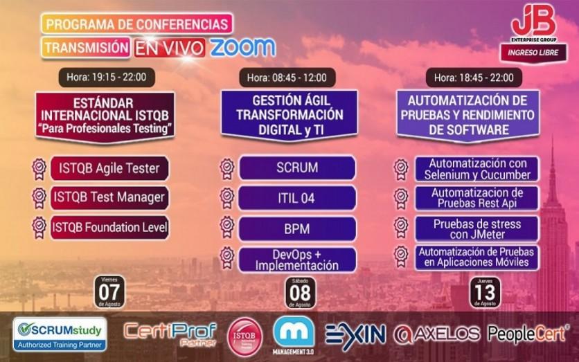 Conferencia: Gestión Ágil, Calidad SW,Transf. Digital y TI