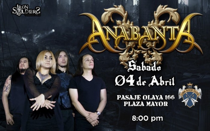 Anabanta en Lima - Sábado 04 Abril 2020
